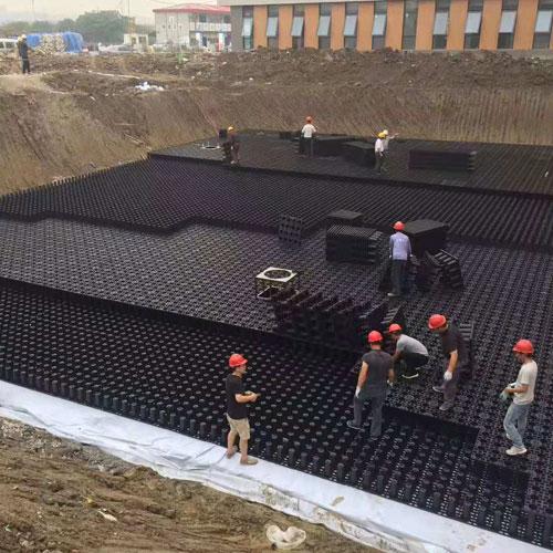 雨水收集施工现场1