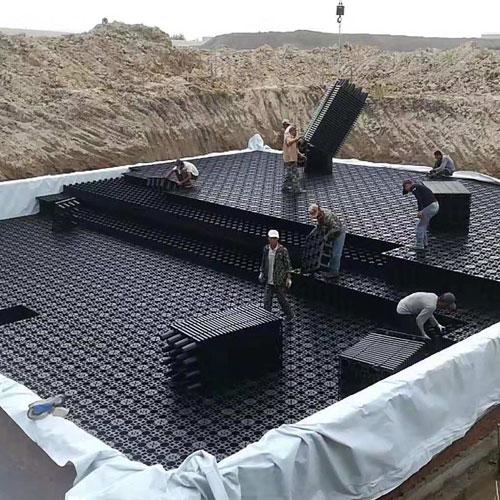 雨水收集施工现场2