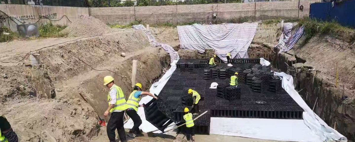 雨水收集池回用施工