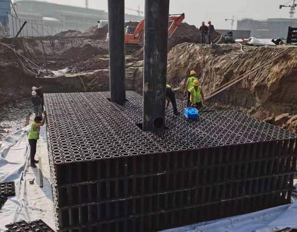 浙江职业技术学院雨水收集系统施工