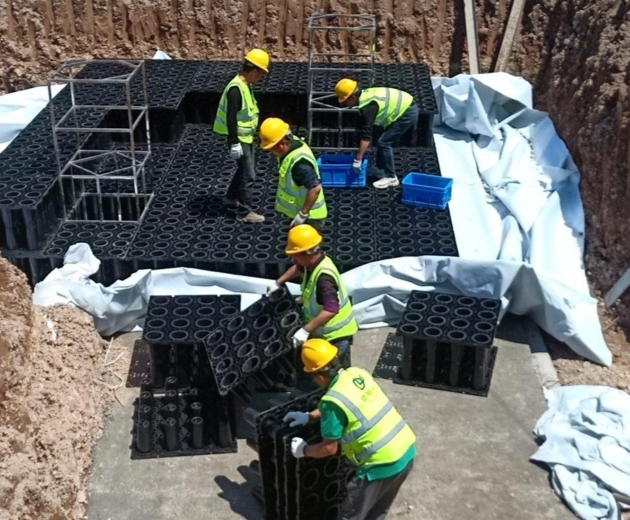 台州神仙居文化创意产业园一期工程雨水回收系统项目施工3