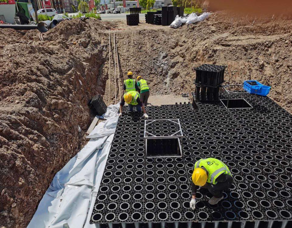 台州神仙居文化创意产业园一期工程雨水回收系统项目施工4