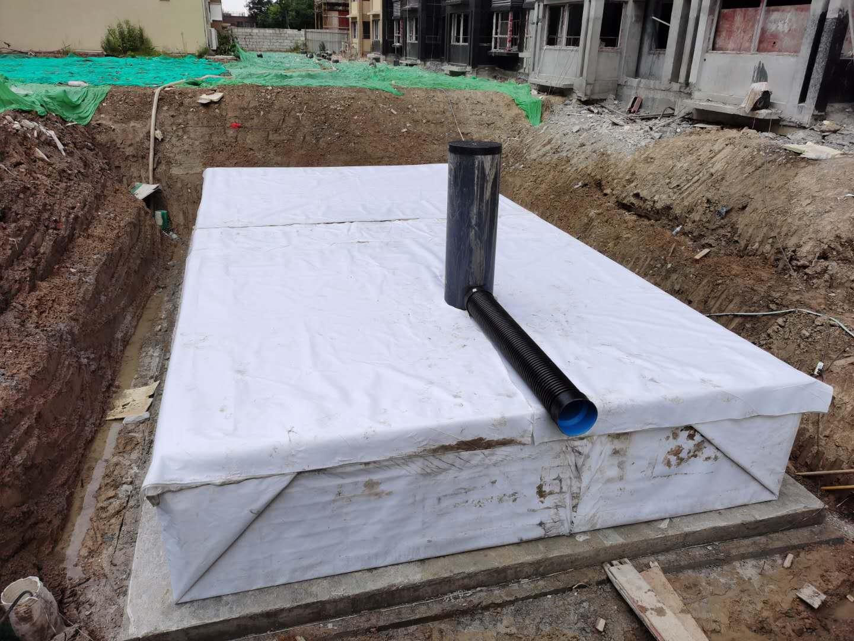 金凤梧桐华苑雨水收集回用系统签约并施工6