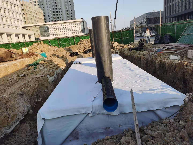 江苏淮安国联医疗卫生服务中心项目雨水收集回用系统施工6